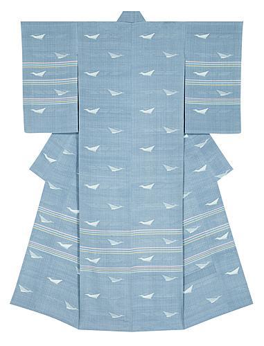 """写真:Kimono of tsumugi with picture kasuri. """"Pleasant autumn"""""""