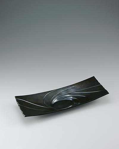 蠟型鋳朧銀盤「吮」