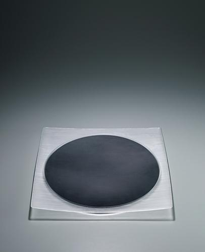 硝子絹糸紋角皿