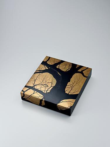 蒔絵色紙箱「樹影」