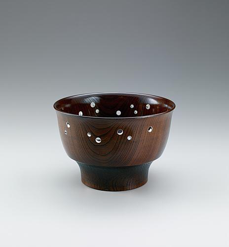 神代欅嵌装鉢