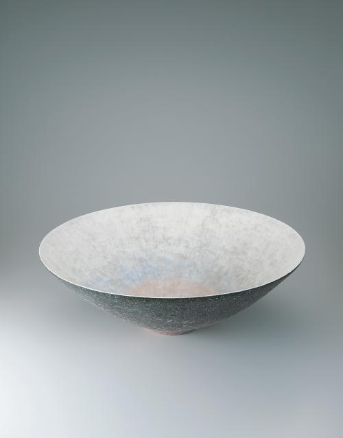 彩泥線紋大鉢