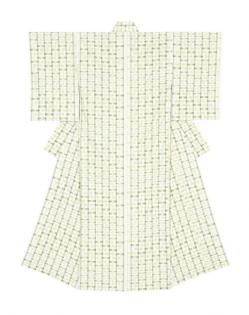 写真:紬織着物「竹矢来」