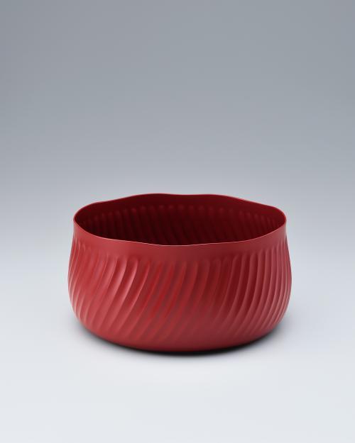 乾漆塗立鉢「波状」