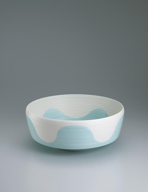 写真:釉彩線文鉢