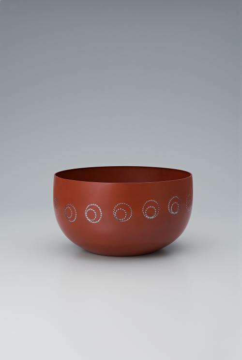 写真:鍛銅打込象嵌鉢