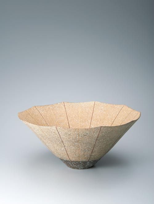 写真:吹泥白丹波金彩十角鉢