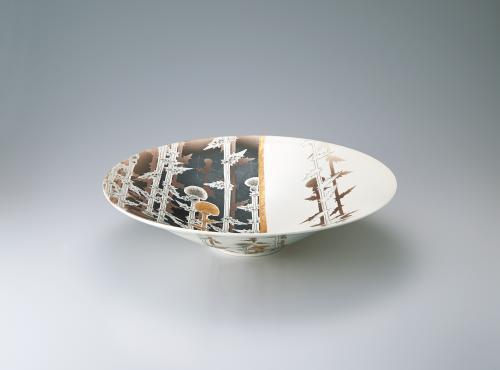 写真:白寿釉皿「想」
