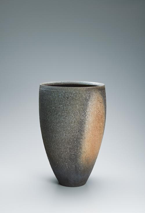 写真:窯変筒花器