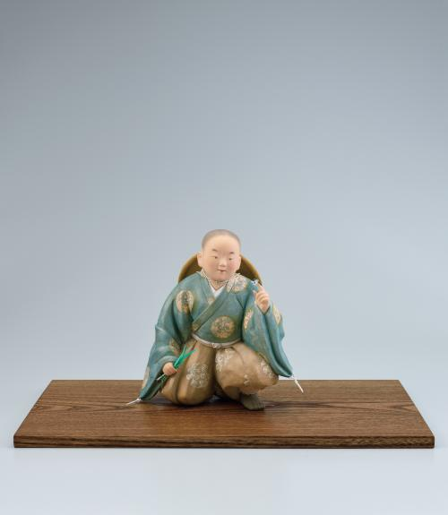 写真:陶彫彩色「ひとやすみ」
