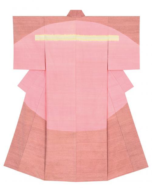 紬織着物「入り日」