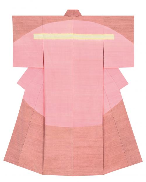 写真:紬織着物「入り日」