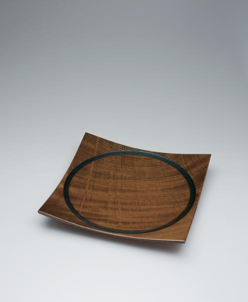 欅造加飾挽方盛器