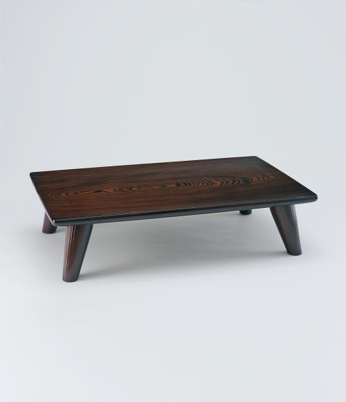 写真:欅拭漆柱状紋座卓