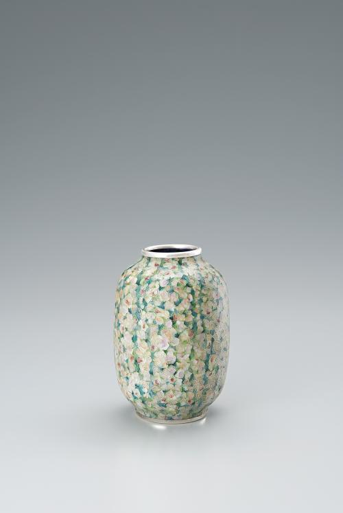 写真:有線七宝花瓶「華やぐ」
