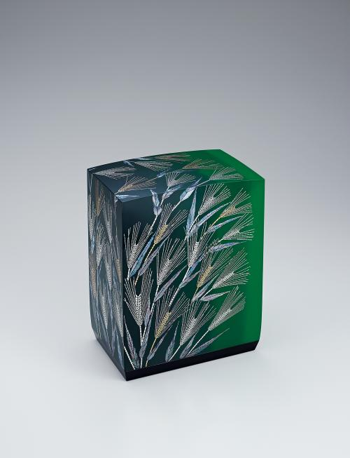 写真:切金螺鈿箱「青麦」