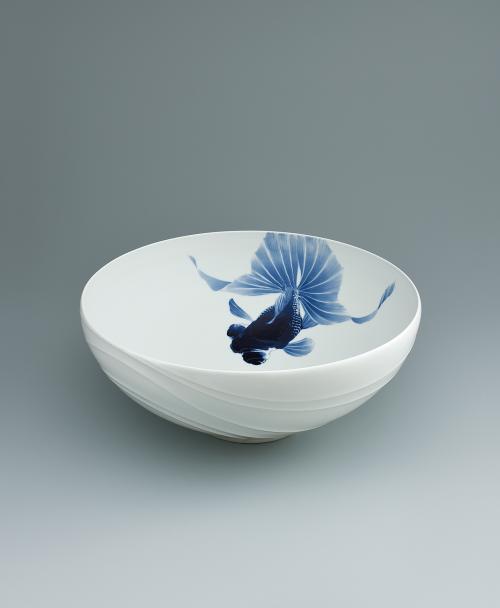 染付金魚鉢