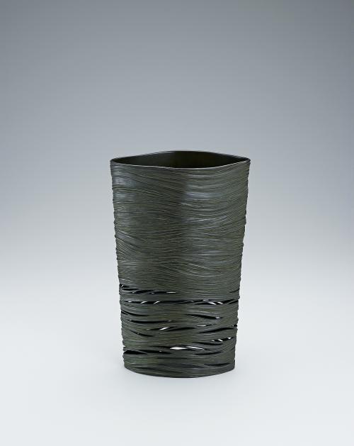 蠟型鋳銅花器「早瀬」