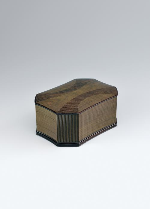 写真:紫檀木象嵌飾箱「川明」
