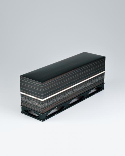 写真:黒檀縞象嵌螺鈿飾箱