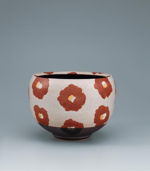 花文大鉢「椿」