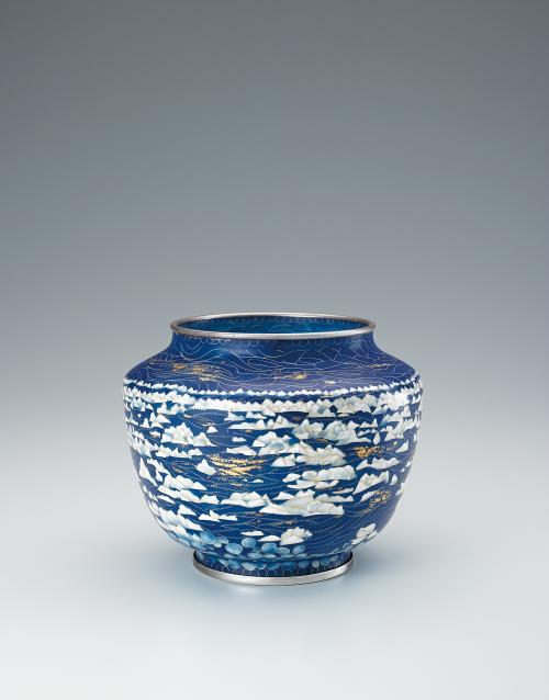 写真:省胎七宝花瓶「冬夕焼」