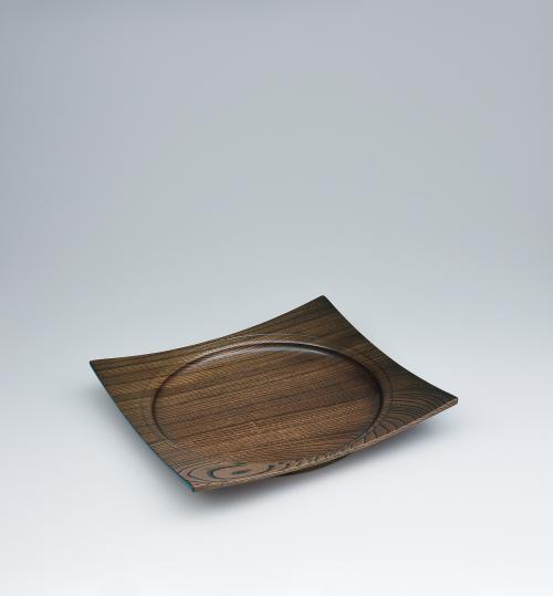 写真:欅造方圓盛器