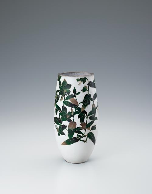 写真:有線七宝花瓶「壮月」
