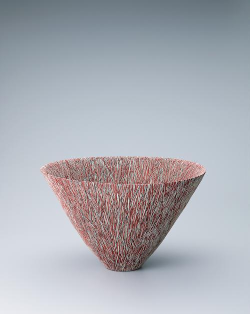 鉢「紅白鮮斜陽─1907─」