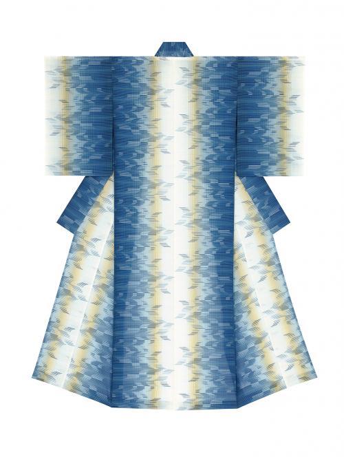 生絹着物「海の中のできごと」