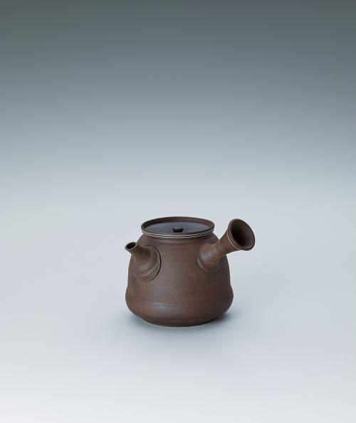 写真:梨皮白線入茶注