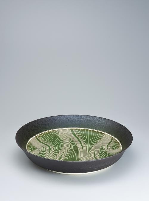 写真:彩泥流文鉢