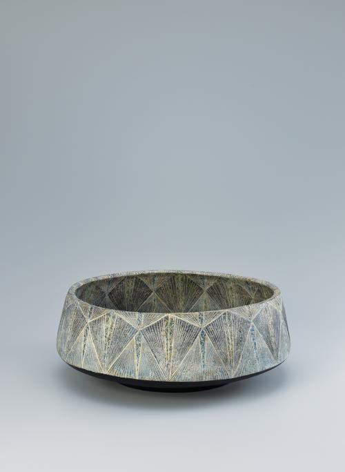 写真:彩泥象嵌紋鉢