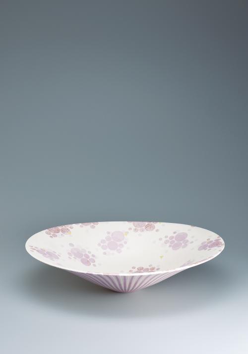 写真:彩色正燕支楕円鉢