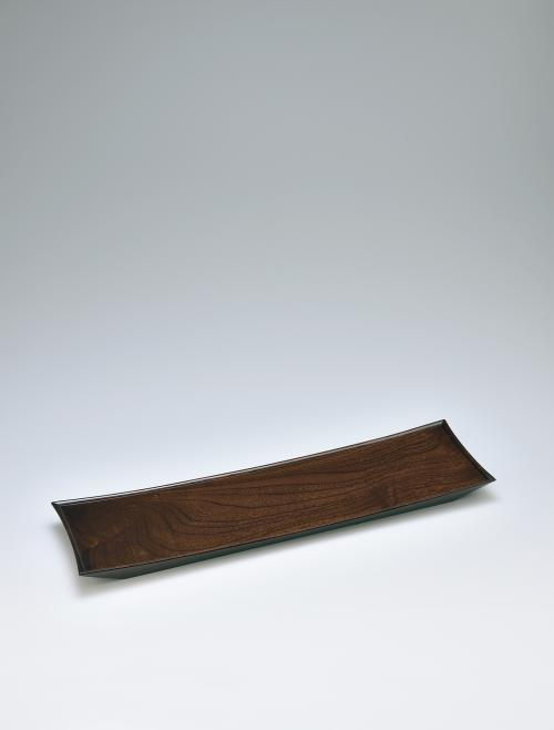 写真:欅拭漆舟形ノ盤