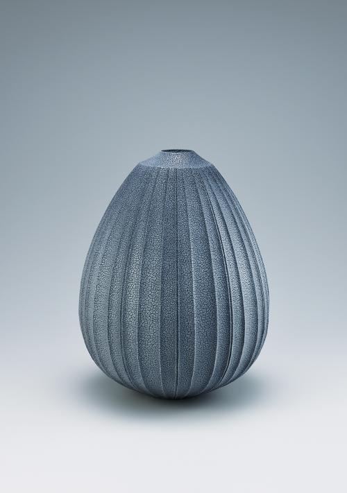 写真:藍色志野壺