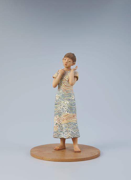 写真:陶釉象嵌「惜夏」
