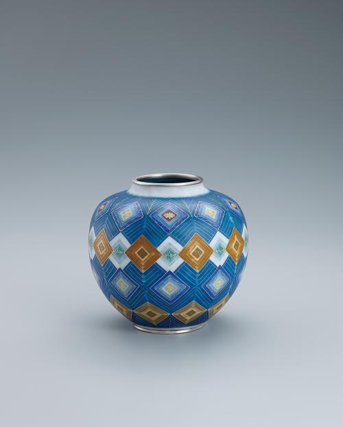 写真:有線七宝花瓶「七夕祭り」
