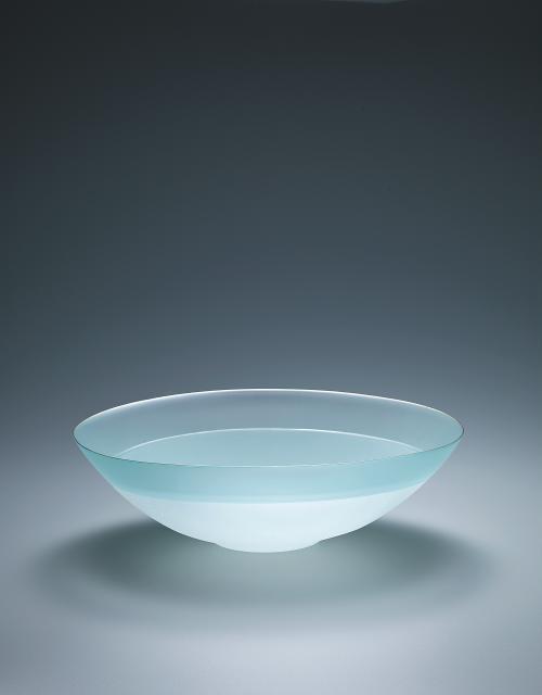 写真:硝子絹糸紋鉢「夕陽」