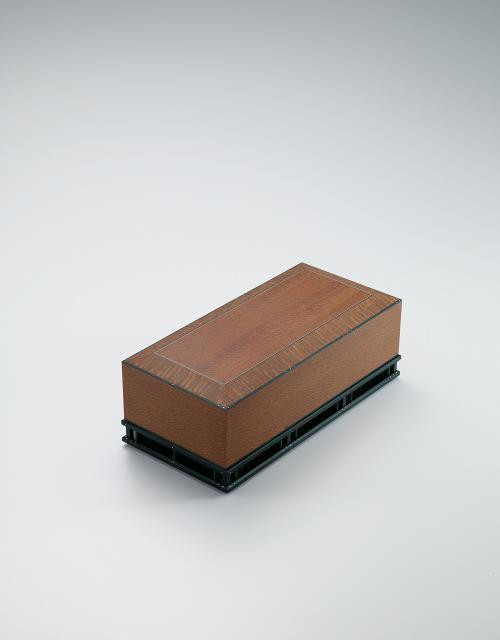 レースウッド連子床脚飾箱