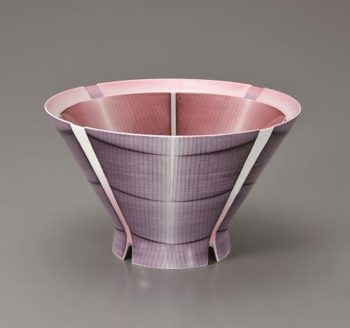 布染彩磁深鉢
