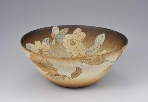 掻落花文鉢