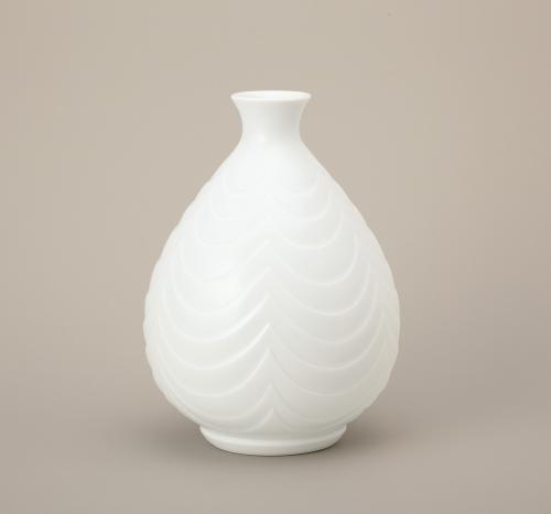 白磁線文花瓶