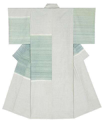 紬織着物「朝凪」