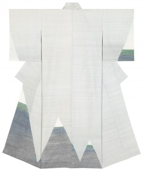 紬織着物「冠雪」