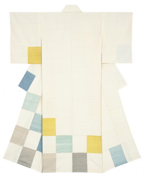 紬織着物「春の水」