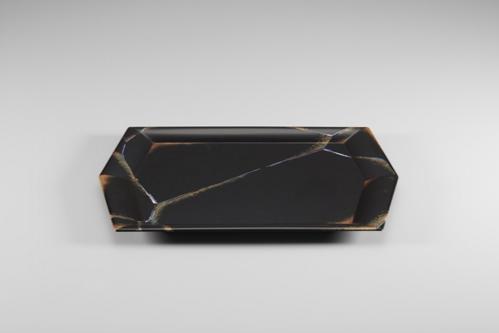 蒔絵氷結文六角盤