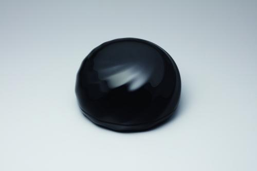 乾漆黒呂色塗合子