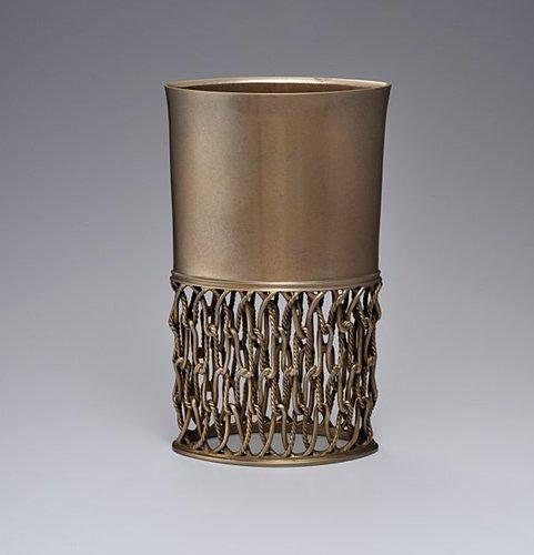 蠟型鋳銅透し文花器