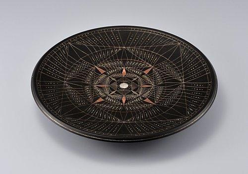 魚々子象嵌皿